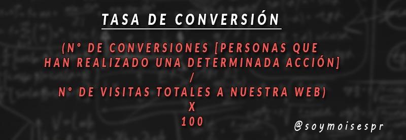 tasa de conversion