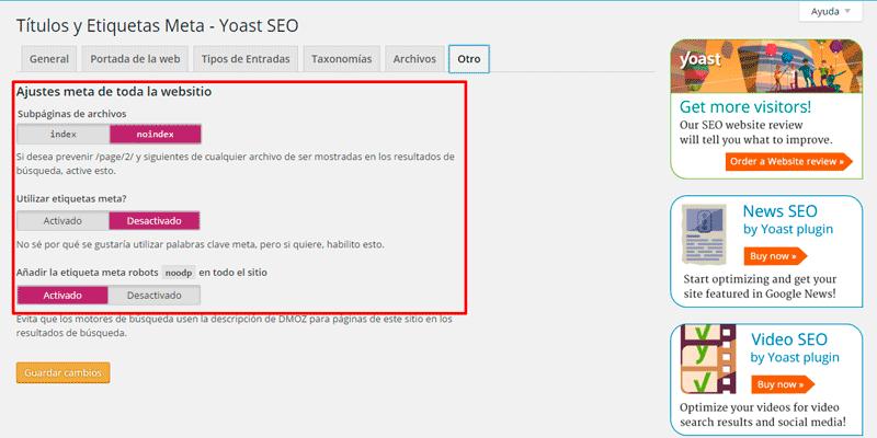 Guía para configurar el plugin Yoast SEO en tu web