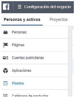 conseguir el pixel de facebook