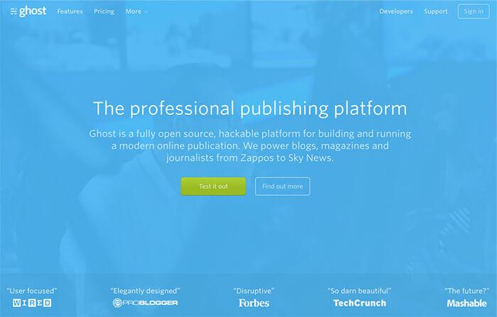 mejores plataformas de blogs gratuitas ghost