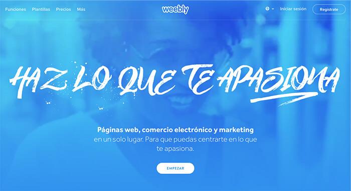 mejores plataformas de blogs gratuitas weebly