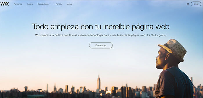 plataformas de blogs gratuitas WIX