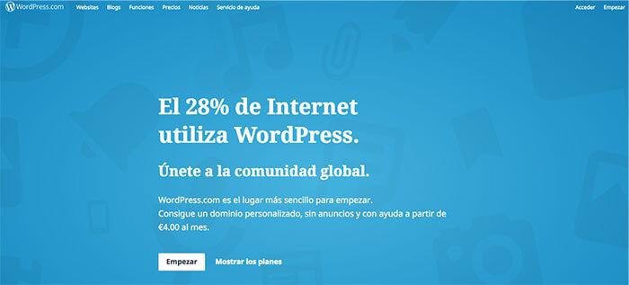 plataformas de blogs gratuitas wordpress