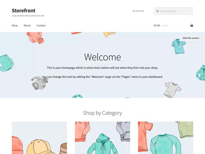 storefront Mejor Plantilla WordPress Gratis para tu eCommerce