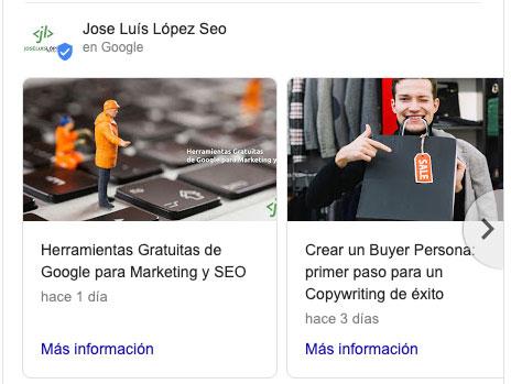 fichas de articulo en google my business