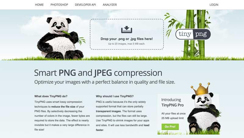 Optimizar aún más las imágenes con TinyPNG