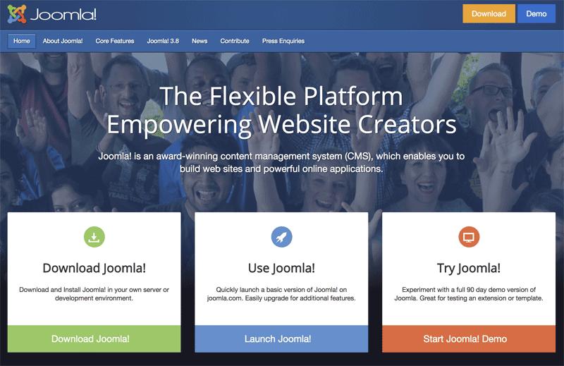 Otros CMS para crear páginas web diferentes a WordPress (2018)