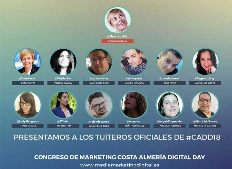 "official twitters de ""Costa de Almería Digital Day"""