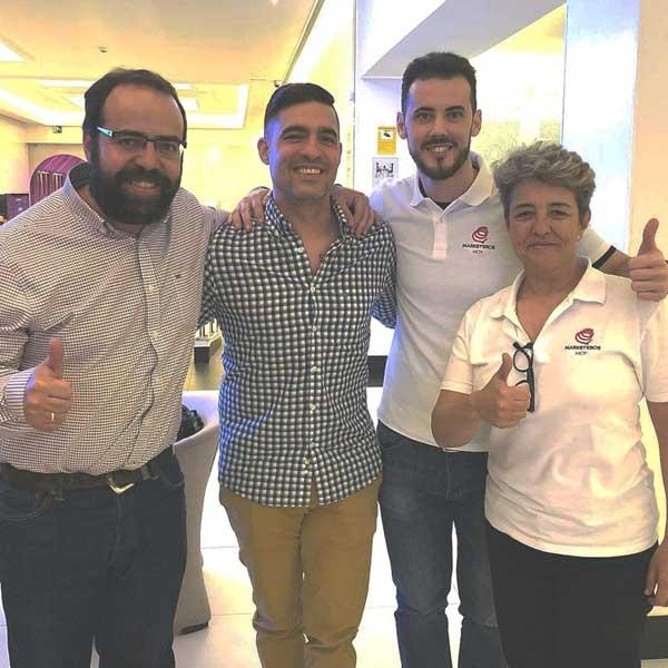 En Tribucamp 2018 con Miguel Florido, Ignacio Santiago y Marketeros de Hoy