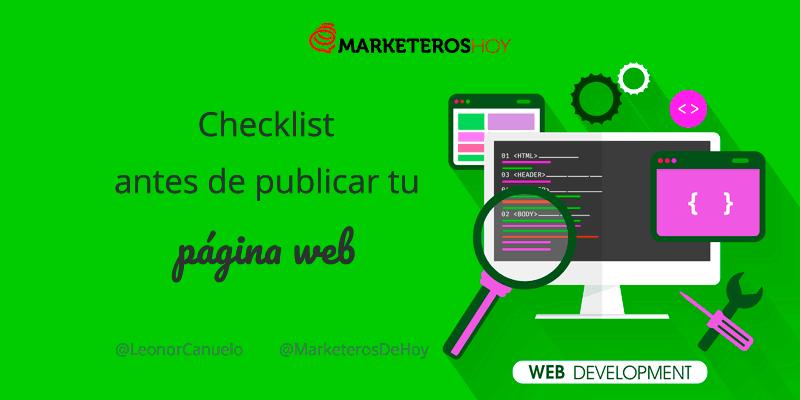 Checklist que debes comprobar antes de publicar tu página web