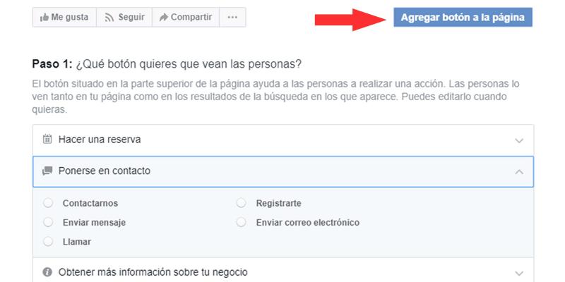 pagina facebook: agregar boton