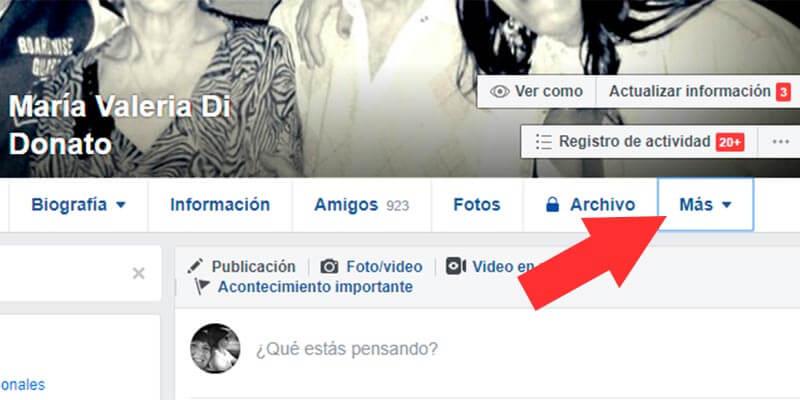 Buscar páginas de Facebook que me gustan