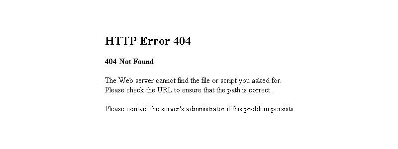 pantalla de error 404 old