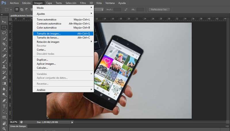 analisis SEO: reducir imagen con Photoshop