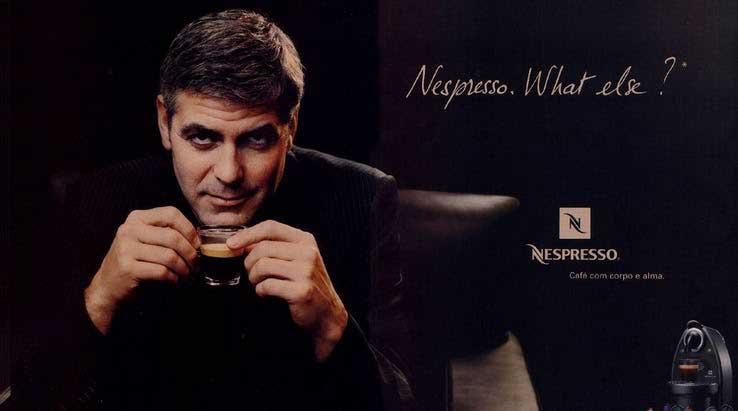embajadores de marca: Nespresso y George Clooney
