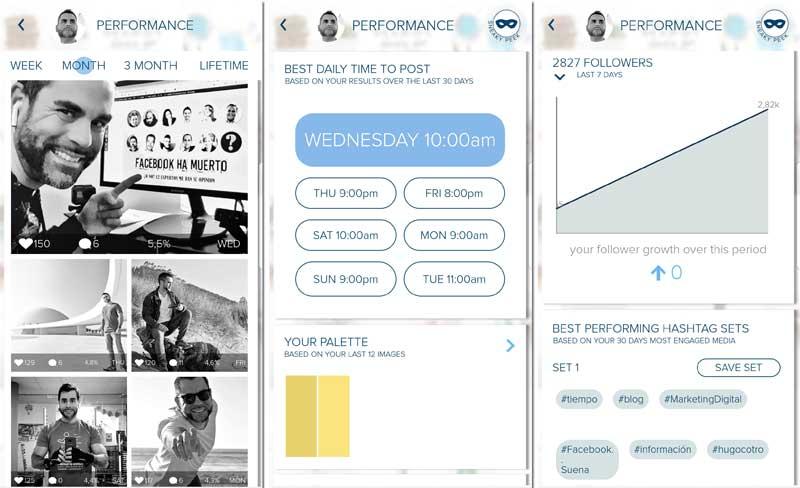 Herramientas para analizar las estadísticas de Instagram: plann