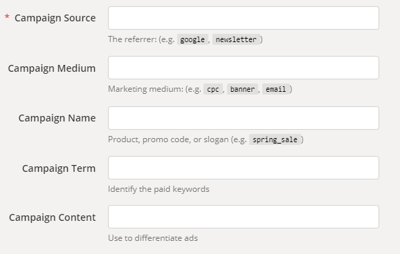 Pasos para construir tu enlace personalizado con Google URL Builder paso 2
