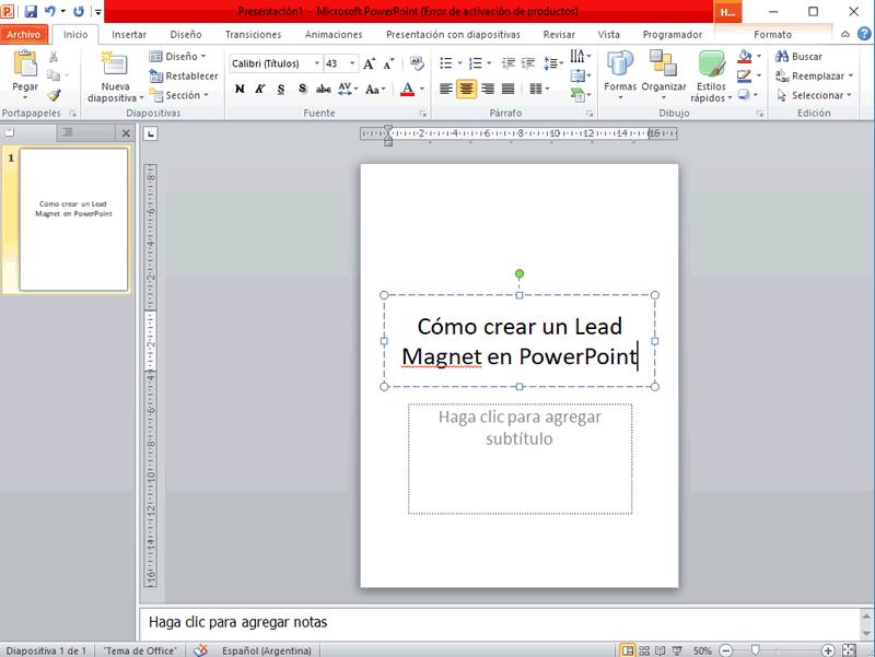 Cómo crear un Lead Magnet con PowerPoint 04