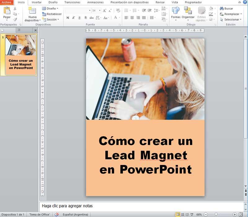 Cómo crear un Lead Magnet con PowerPoint 10