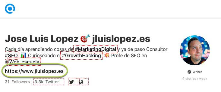 perfil con backlink