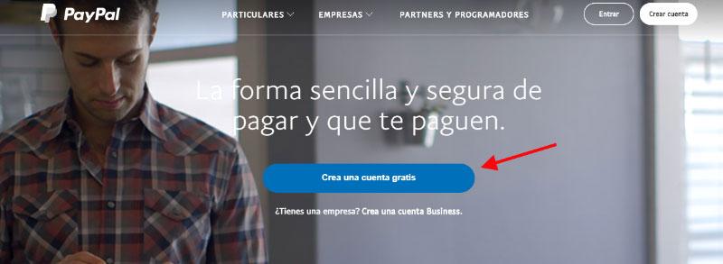 Como crear una cuenta de Paypal paso a paso