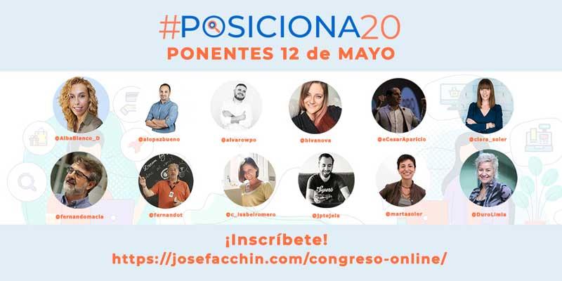 #posiciona20 ponentes 12 de mayo 2020