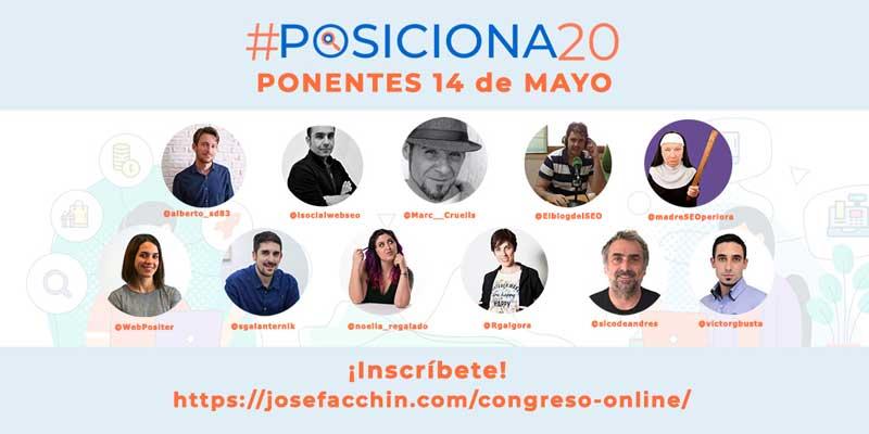 #posiciona20 ponentes 14 de mayo 2020