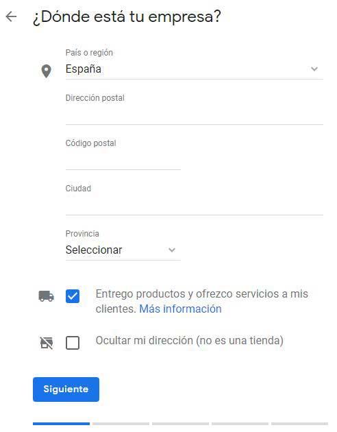 Reseñas Google: Cómo registrar mi negocio en Google paso 3