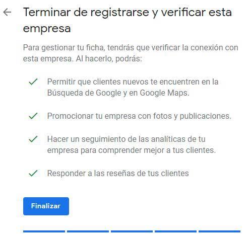 Reseñas Google: Cómo registrar mi negocio en Google paso 7