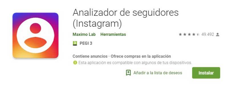 herramientas instagram Analizador de seguidores