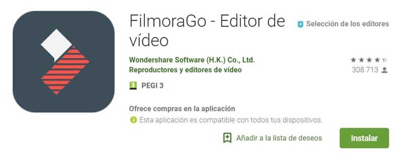 herramientas instagram FilmoraGo