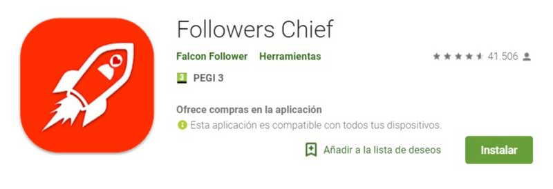Herramientas de Instagram Followers Chief