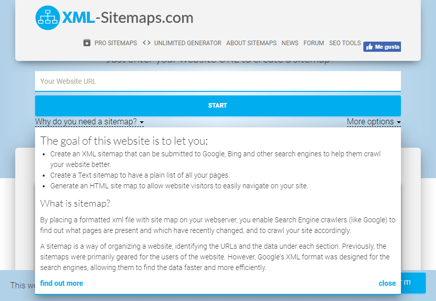 sitemap: sitemap generator