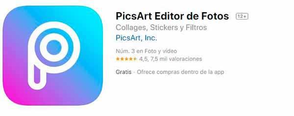 Editor de fotos picsart