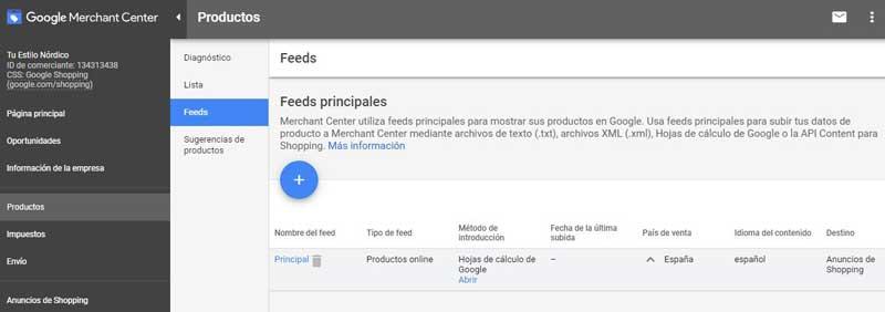 subir productos a Google Shopping