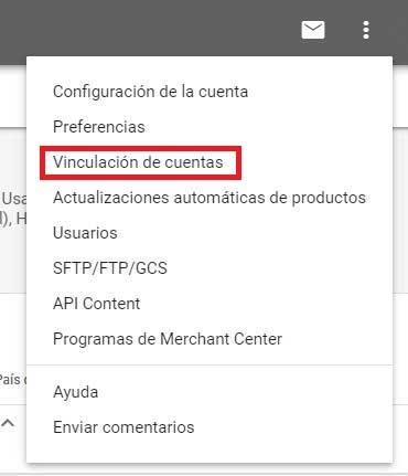 google-shopping Vincula tu cuenta de Google Ads