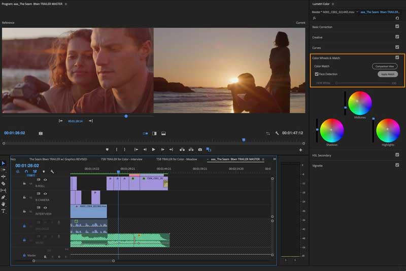 editor de vídeos Premiere