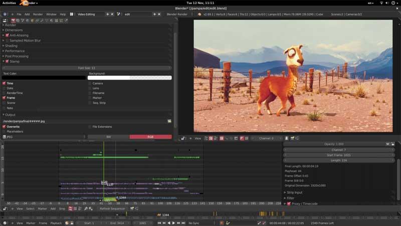 editor de vídeos blender
