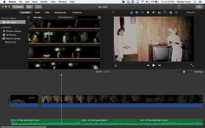 editor de videos imovie