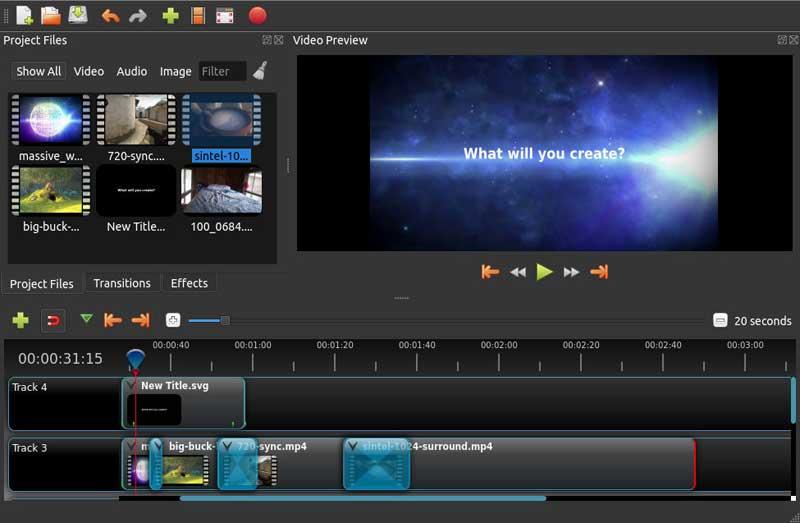 editor de videos openshot