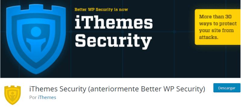 wordpress plugin iThemes Security-