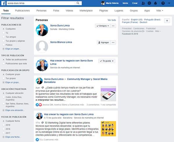 facebook buscar amigos