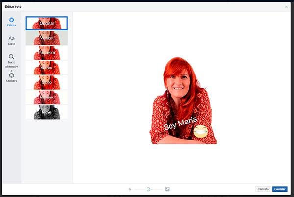 facebook editar imagen perfil