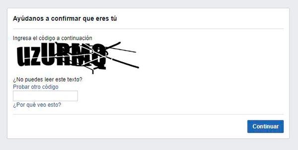 facebook seguridad verificacion