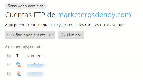 ftp server cuentas