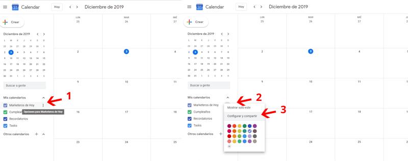 ¿Cómo compartir Google Calendar?