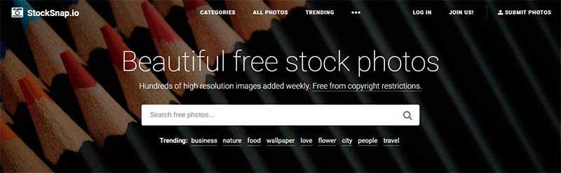 Bancos de imágenes gratis stocksnap-io