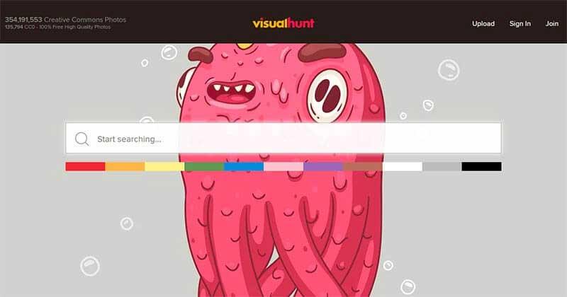 Bancos de imágenes gratis visual-hunt