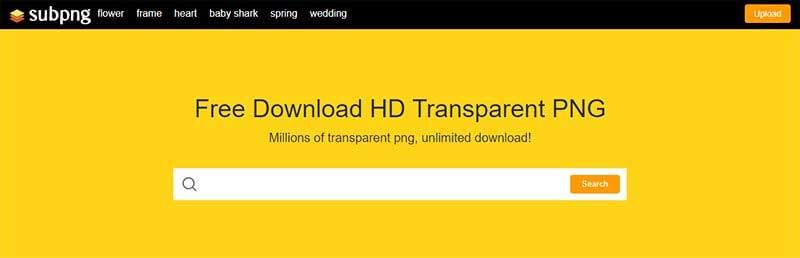 Bancos de imágenes gratis subpng-web