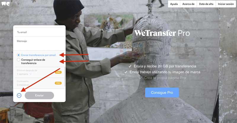 wetransfer -paso 3